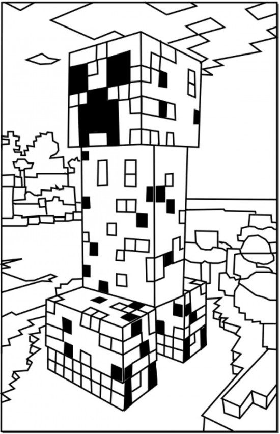 550x852 Minecraft Theme Please Print And Download The Minecraft Coloring