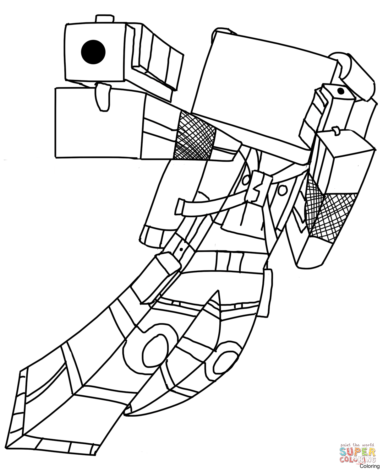 1219x1500 Incredible Minecraft Coloring Pages To Print With Color