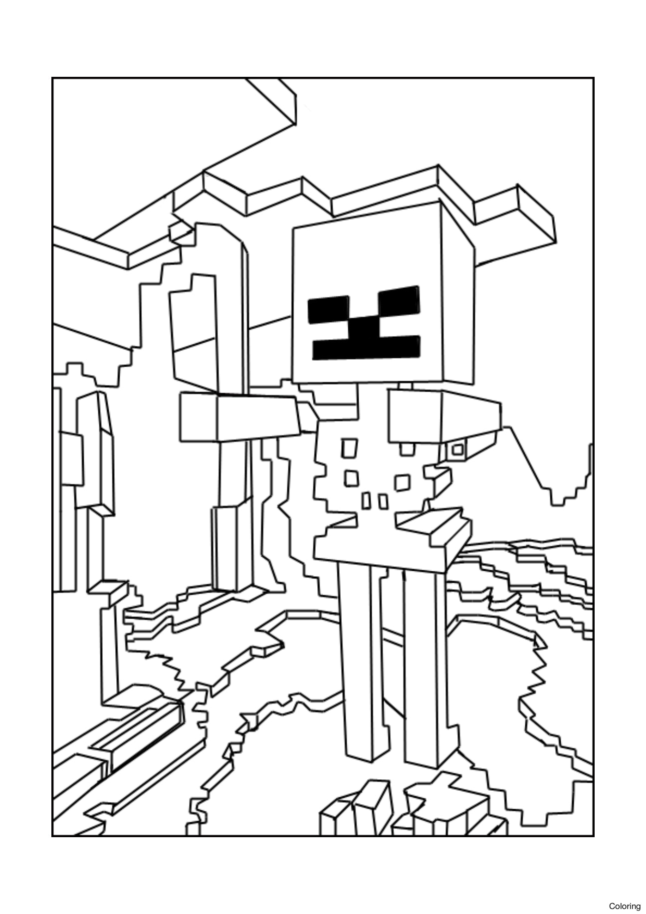Minecraft Ausmalbilder Wither : Minecraft Deadlox Drawing At Getdrawings Com Free For Personal Use