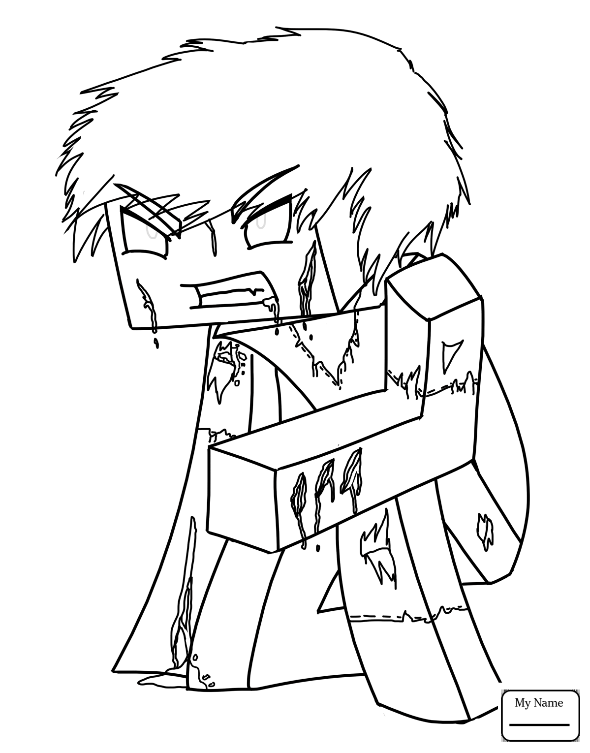 1199x1530 Minecraft Cow Cartoons Coloring Pages