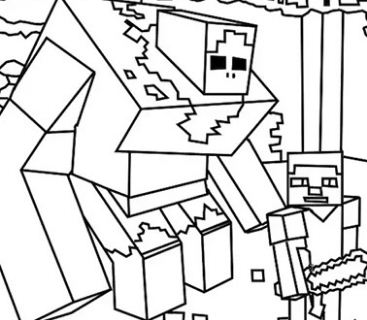 367x320 Minecraft Deadlox From Minecraft Coloring Page