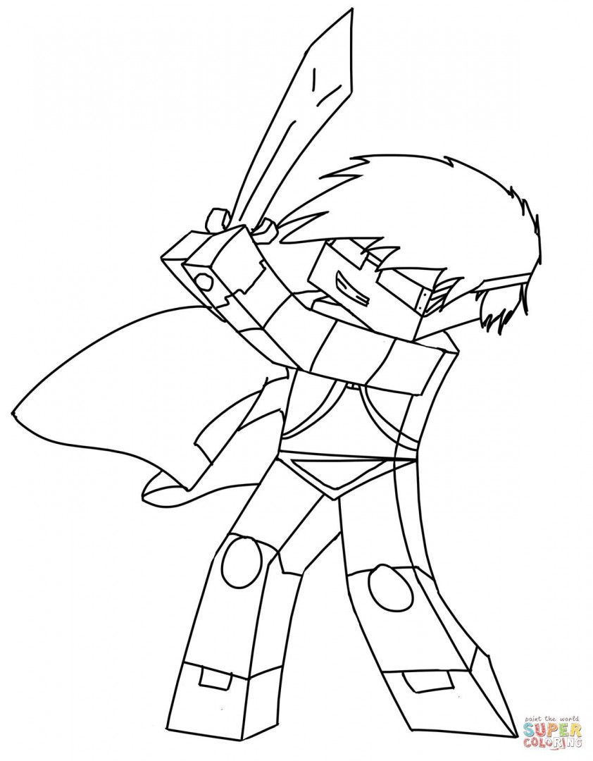 842x1080 Coloring Pages Skydoesminecraft