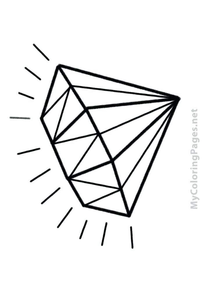 736x981 Diamond Coloring Page 64 Packed With Diamond Coloring Page
