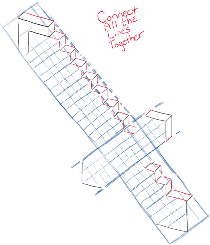 700x817 How To Draw Minecraft Swords