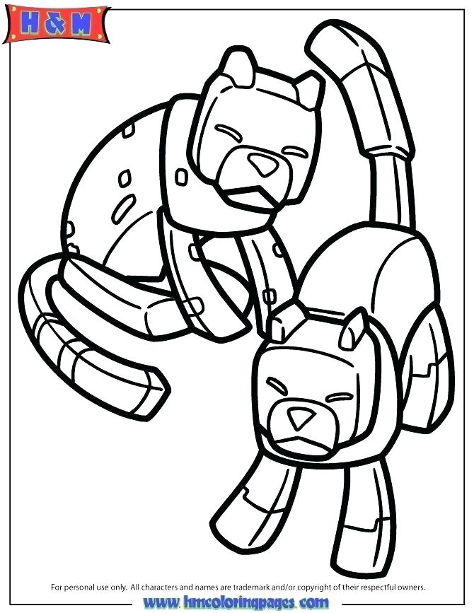 670x867 Minecraft Color Pages Coloring Page Dog