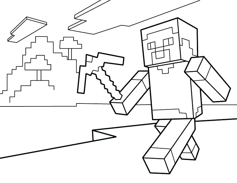 792x612 Pretty Free Minecraft Coloring Pages Print 4 Dragon Printable In