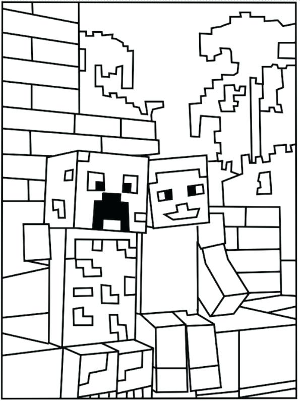 595x795 This Is Minecraft Coloring Pages Images