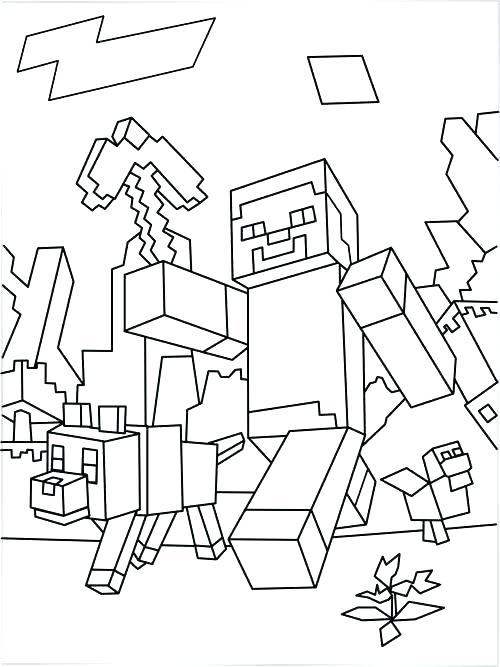 500x667 Coloring Pages For Minecraft Coloring Page Drawing Inspired By 1