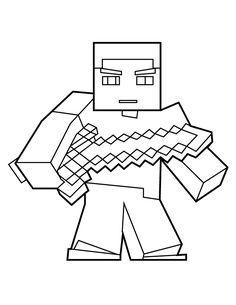 236x305 Steve Minecraft Com Espada Nn Steve Minecraft