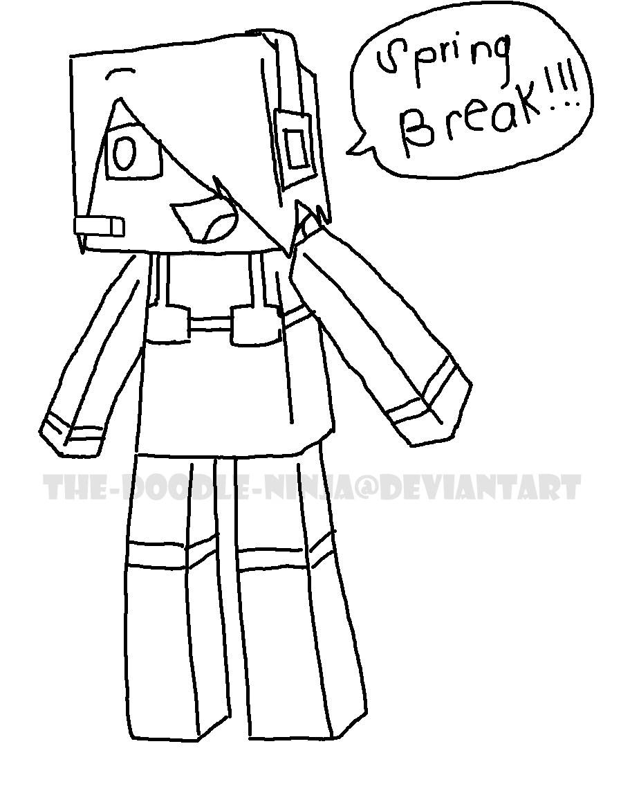 Minecraft drawing at getdrawings free for personal use 898x1143 minecraft spring break sketch by the doodle ninja on deviantart maxwellsz