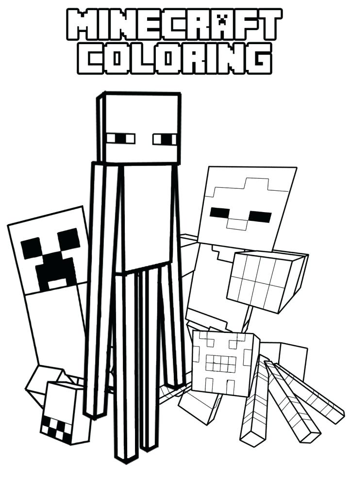 723x1024 Minecraft Coloring Pages And Colouring Minecr On Minecraft Creeper