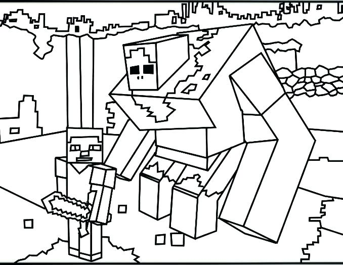 678x524 Minecraft Coloring Pages Printable Printable Coloring Pages