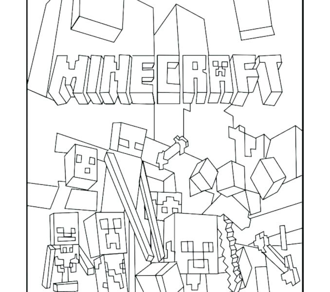 678x600 Minecraft Coloring Pages To Print Plus Free Coloring Pages