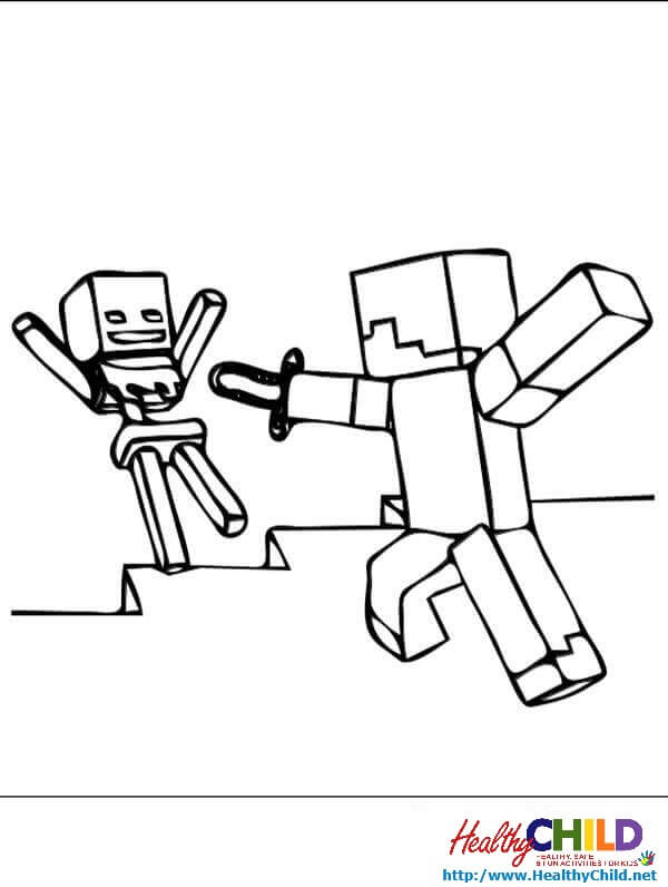 600x796 Minecraft Creeper Coloring Pages