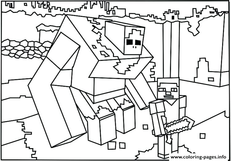 750x524 Minecraft Girl Coloring Pages Creepers Printable Coloring Page