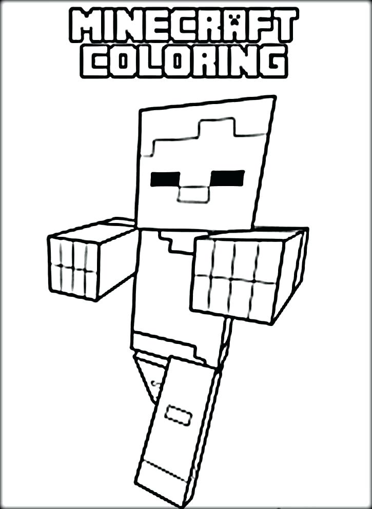 725x993 Printable Minecraft Creeper Coloring Pages Color Page Home