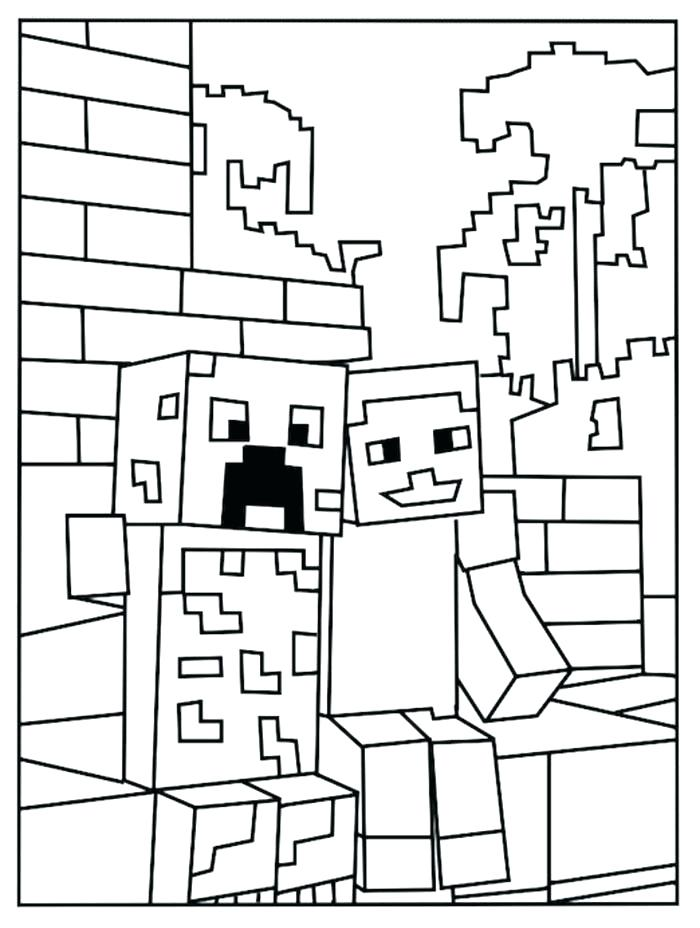 700x928 Best Coloring Pages Of Minecraft As Well Sword Creeper C