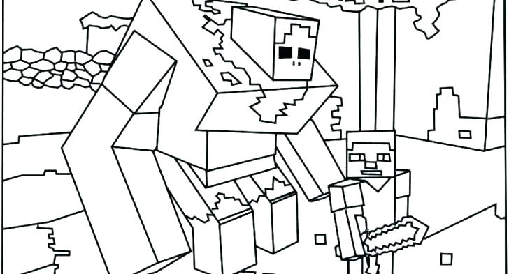 728x393 Coloring Pages Of Minecraft