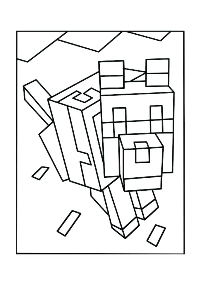 687x972 Printable Minecraft Coloring Pages