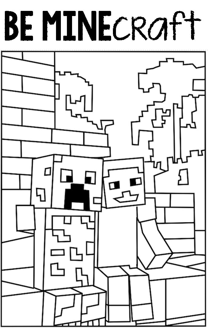 687x1084 48 Best MINECRAFT COLORING PICTURES Images On Pinterest