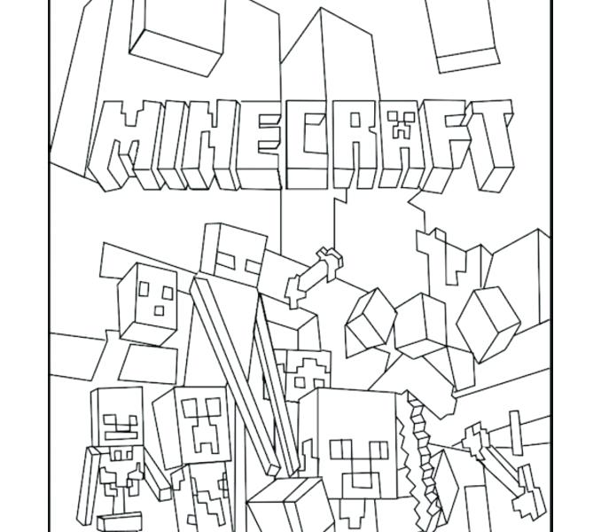 678x600 Minecraft Color Page Coloring Pages Free Printable Sheets