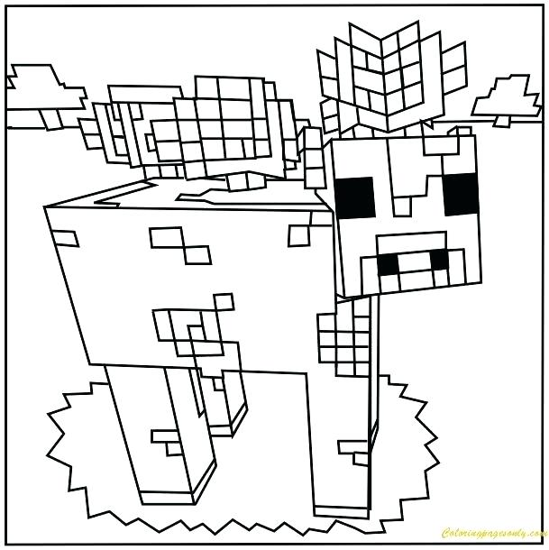 609x610 This Is Minecraft Color Pages Pictures Coloring In Games