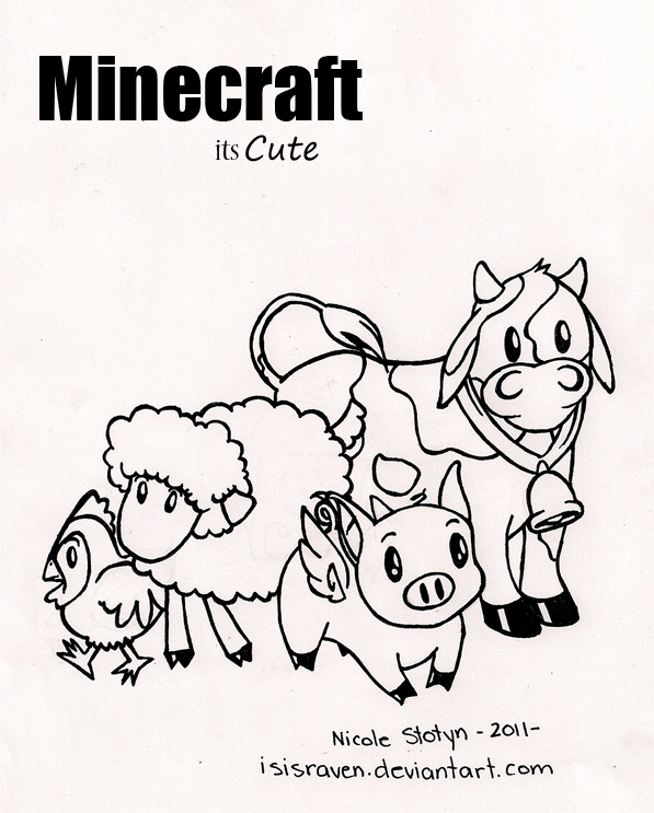597x743 Minecraft Coloring Page By Isisraven