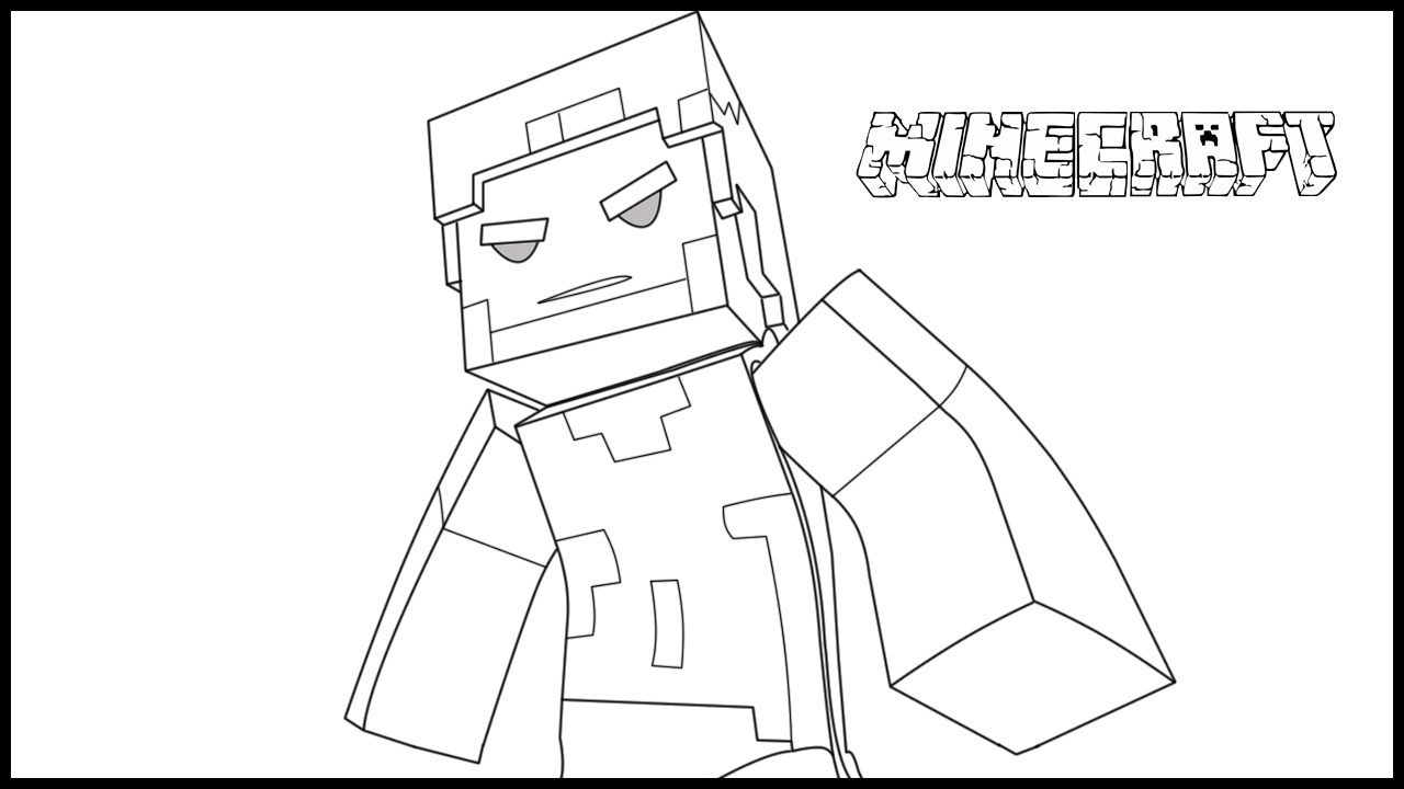 Minecraft Ausmalbilder Herobrine : Minecraft Drawing Herobrine At Getdrawings Com Free For Personal