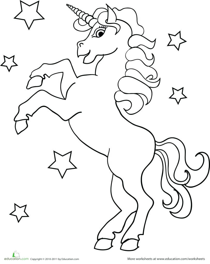 813x1023 Coloring Pages Unicorn Minecraft Online Unicorns
