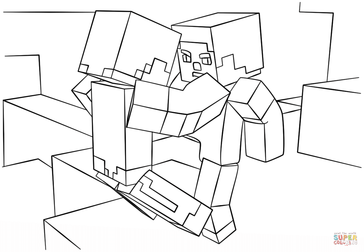 Ausmalbilder Minecraft Skins : Minecraft Drawing Online At Getdrawings Com Free For Personal Use