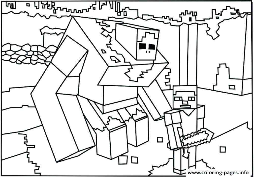 1024x715 Top Printable Minecraft Coloring Pages Online Amazing In Site Free