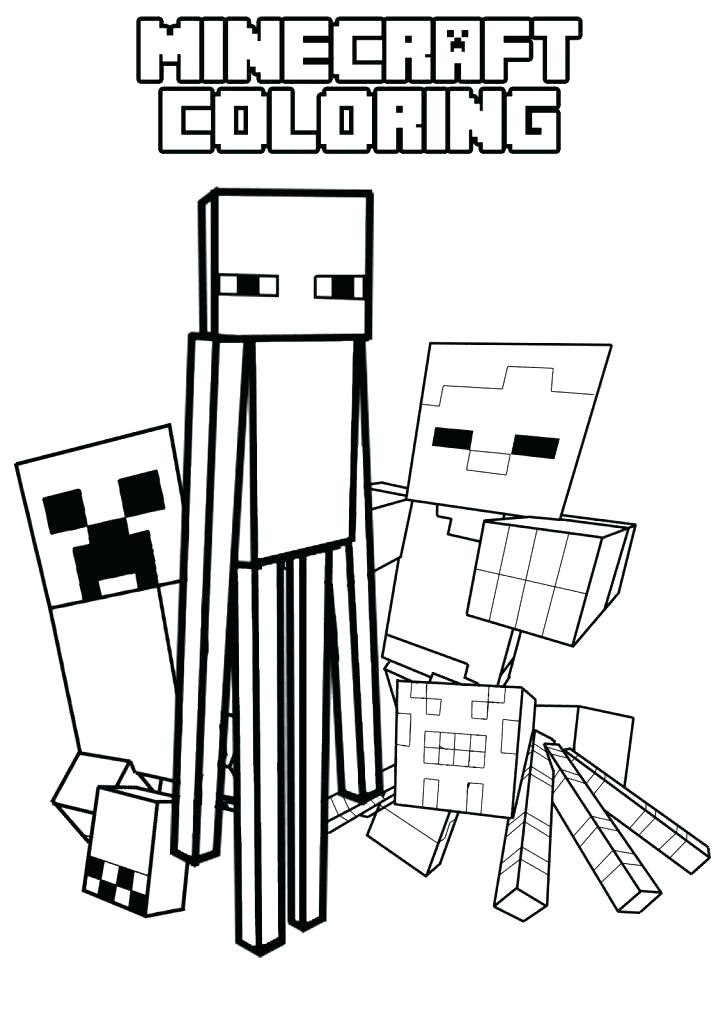 723x1024 Top Printable Minecraft Coloring Pages Online Site For Kids At