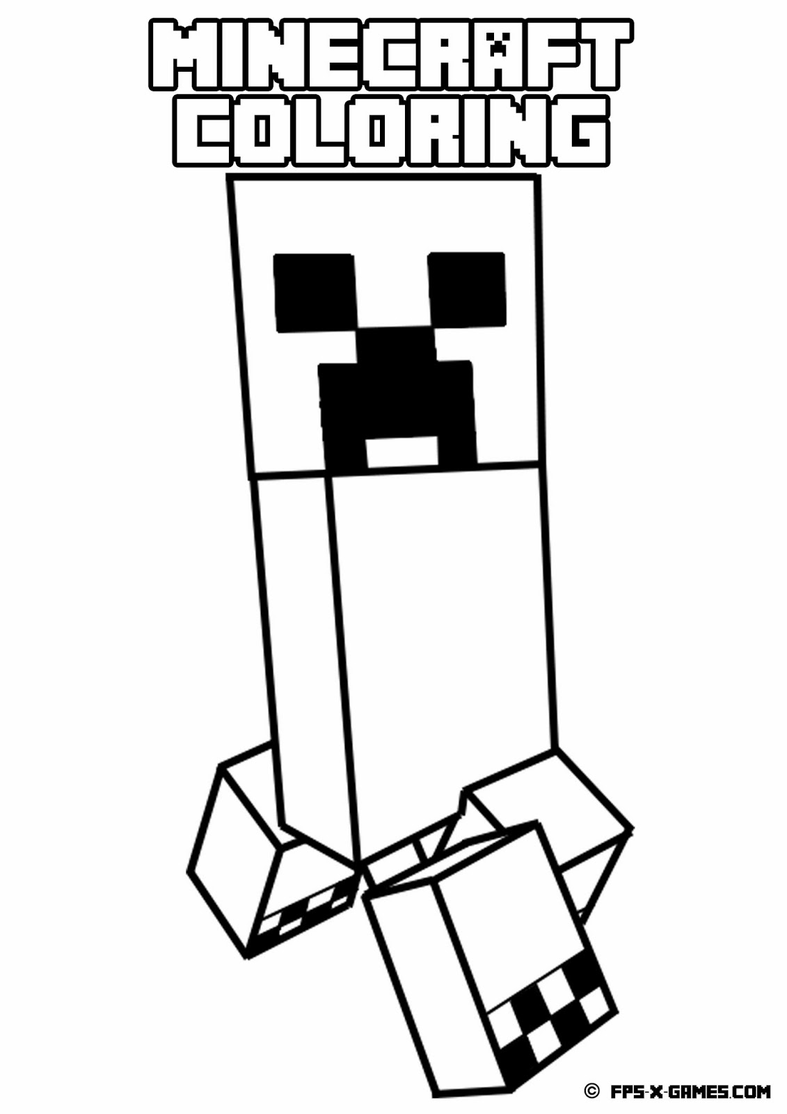 1131x1600 Minecraft Coloring Pages Creeper Printable To Beatiful Draw