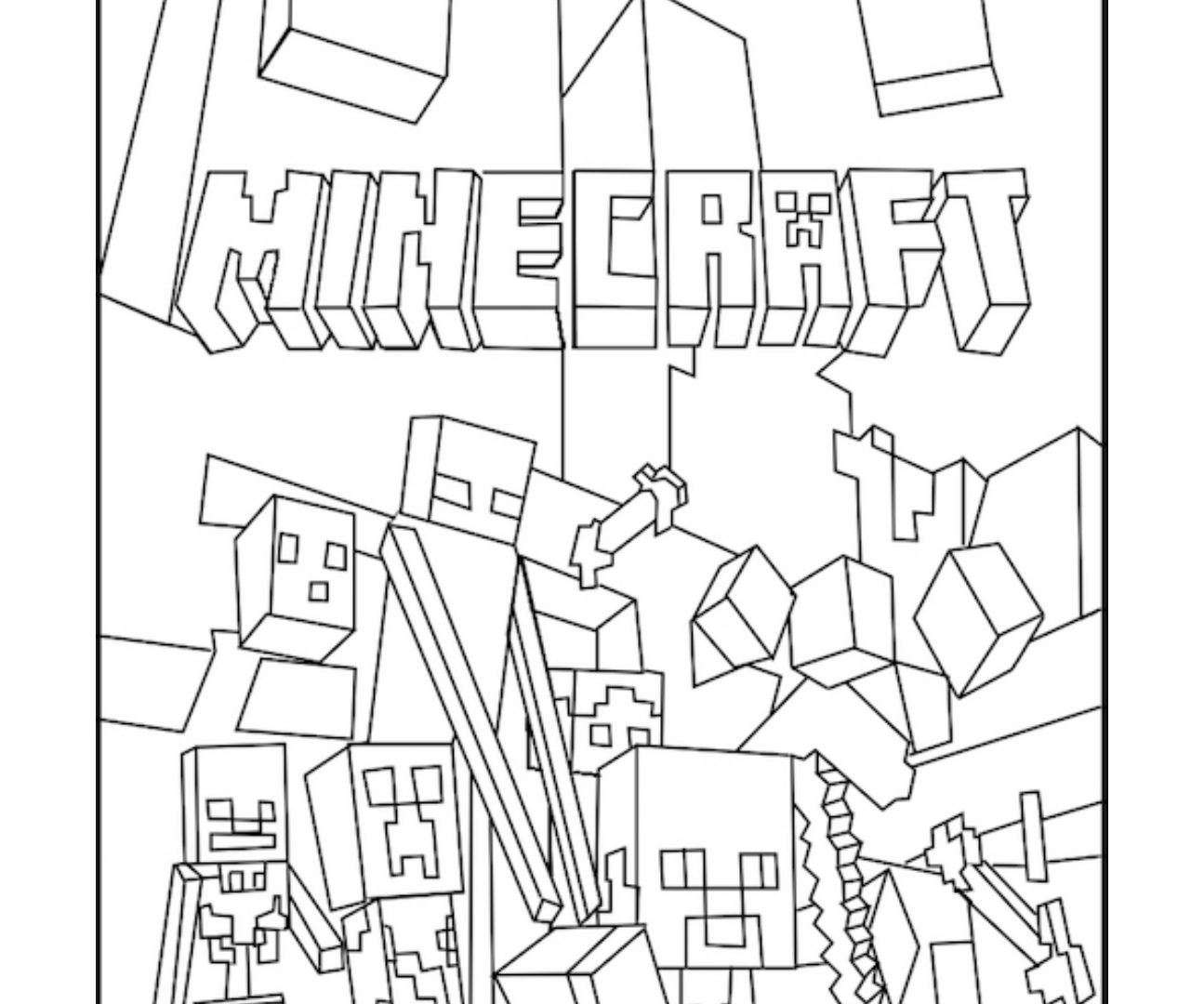 1295x1080 Minecraft Coloring Pages Free Printable Kids Colouring Enderman