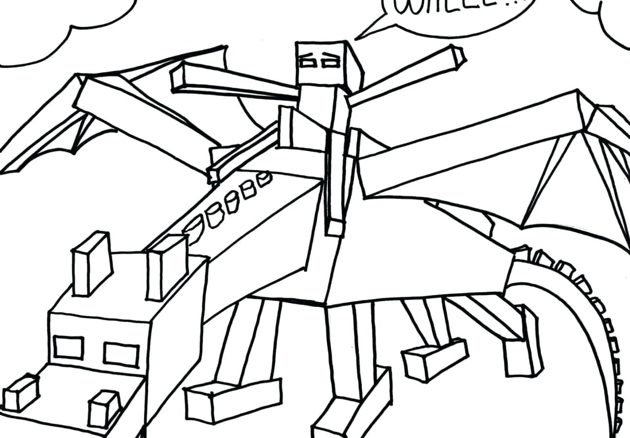 1295x900 Coloring Printable Minecraft Coloring Pages Wolves A Edition 2