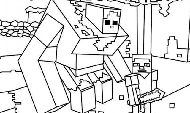 640x380 Free Minecraft Coloring Pages