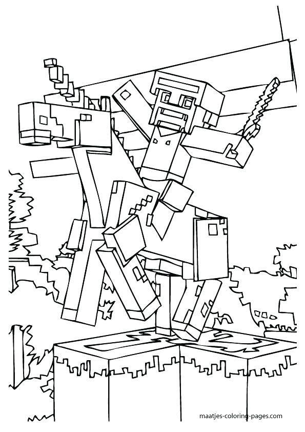 595x842 Amazing Printable Minecraft Coloring Pages For