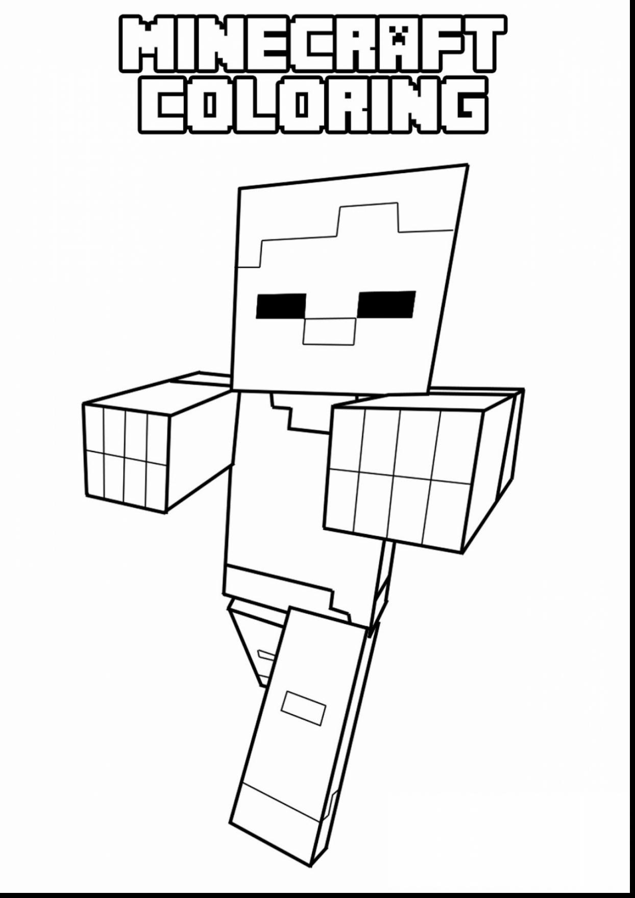 1244x1760 Terrific Printable Minecraft Coloring Pages