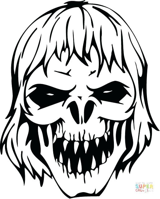 514x640 Here Are Zombie Coloring Pages Pictures Scary Zombie Skull