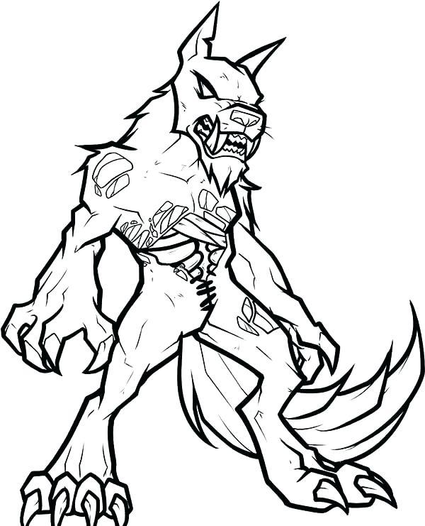 600x741 Zombie Coloring Pages Zombie Coloring Pages Zombie Werewolf