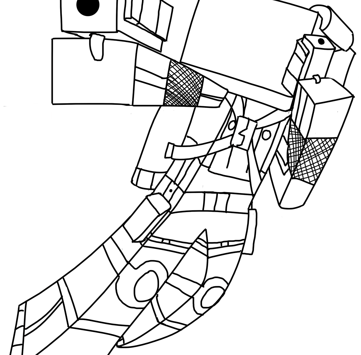 christmas minecraft coloring pages | Minecraft Ender Dragon Drawing at GetDrawings.com | Free ...