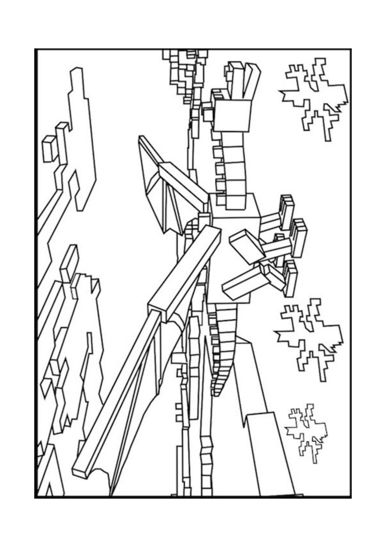 1295x1832 A Minecraft Enderman Coloring Page Birthday Ideas