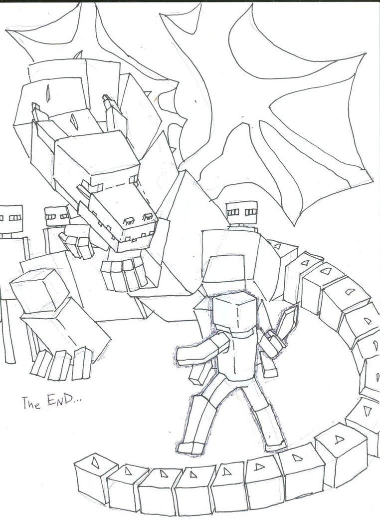 Minecraft Ausmalbilder Enderdragon : Minecraft Ender Dragon Drawing At Getdrawings Com Free For
