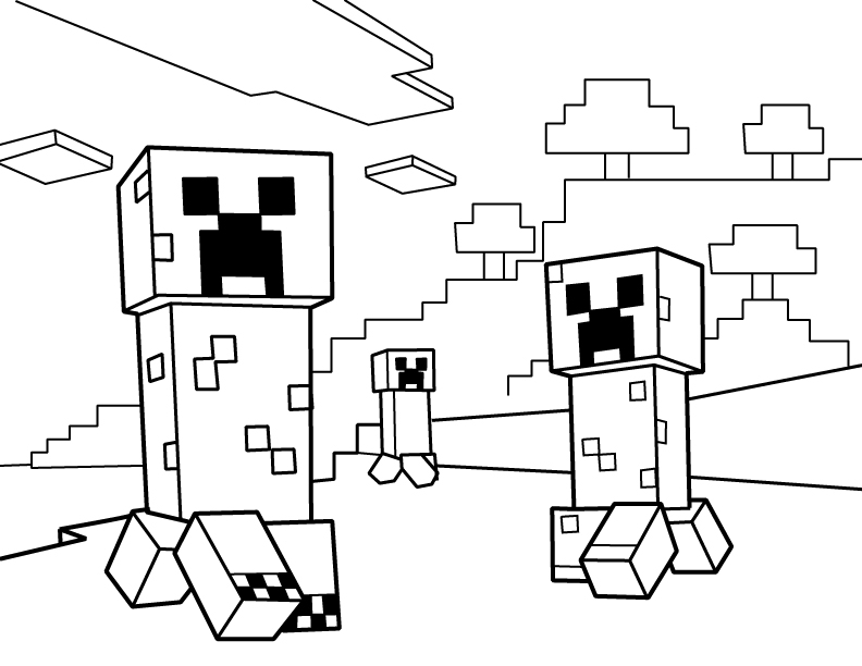792x612 Free Minecraft Coloring Pages Printable Minecraft Ender Dragon
