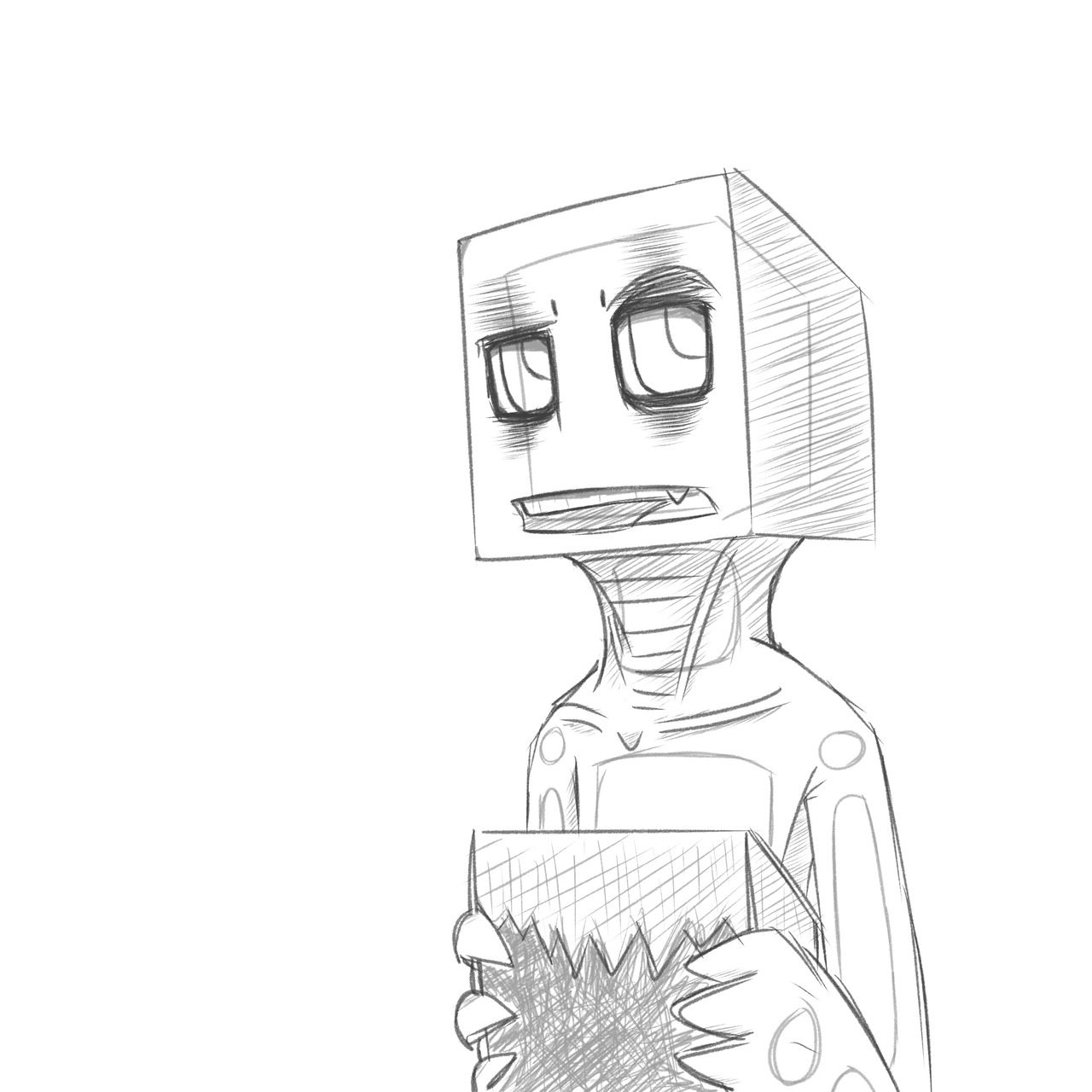 1280x1280 Minecraft Enderman Coloring Pages