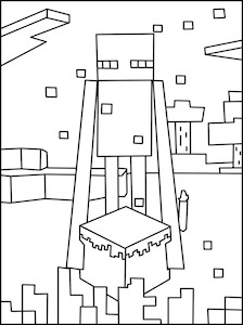 224x300 Minecraft Enderman Coloring Page Art Lessons