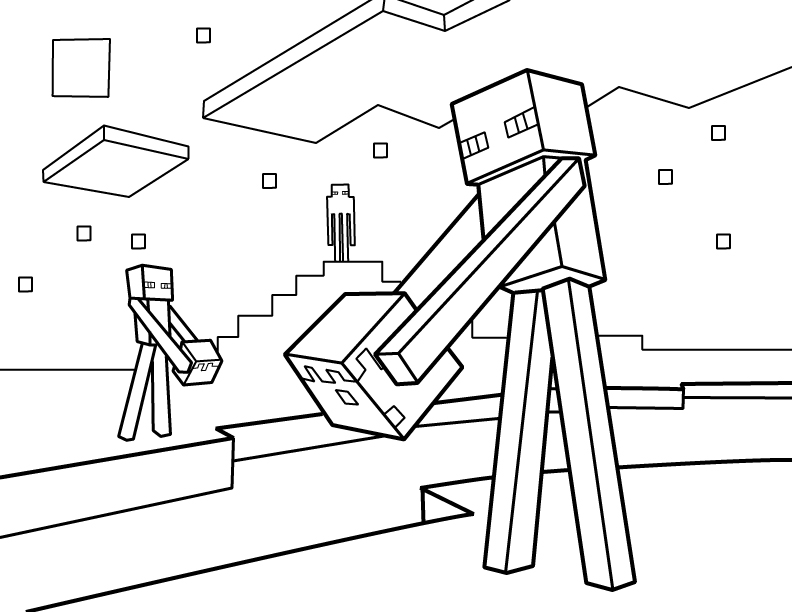 792x612 Enderman Coloring Pages