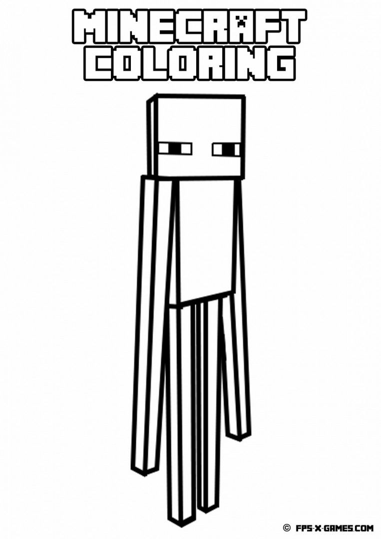 763x1080 Coloring Pages Enderman Colorings