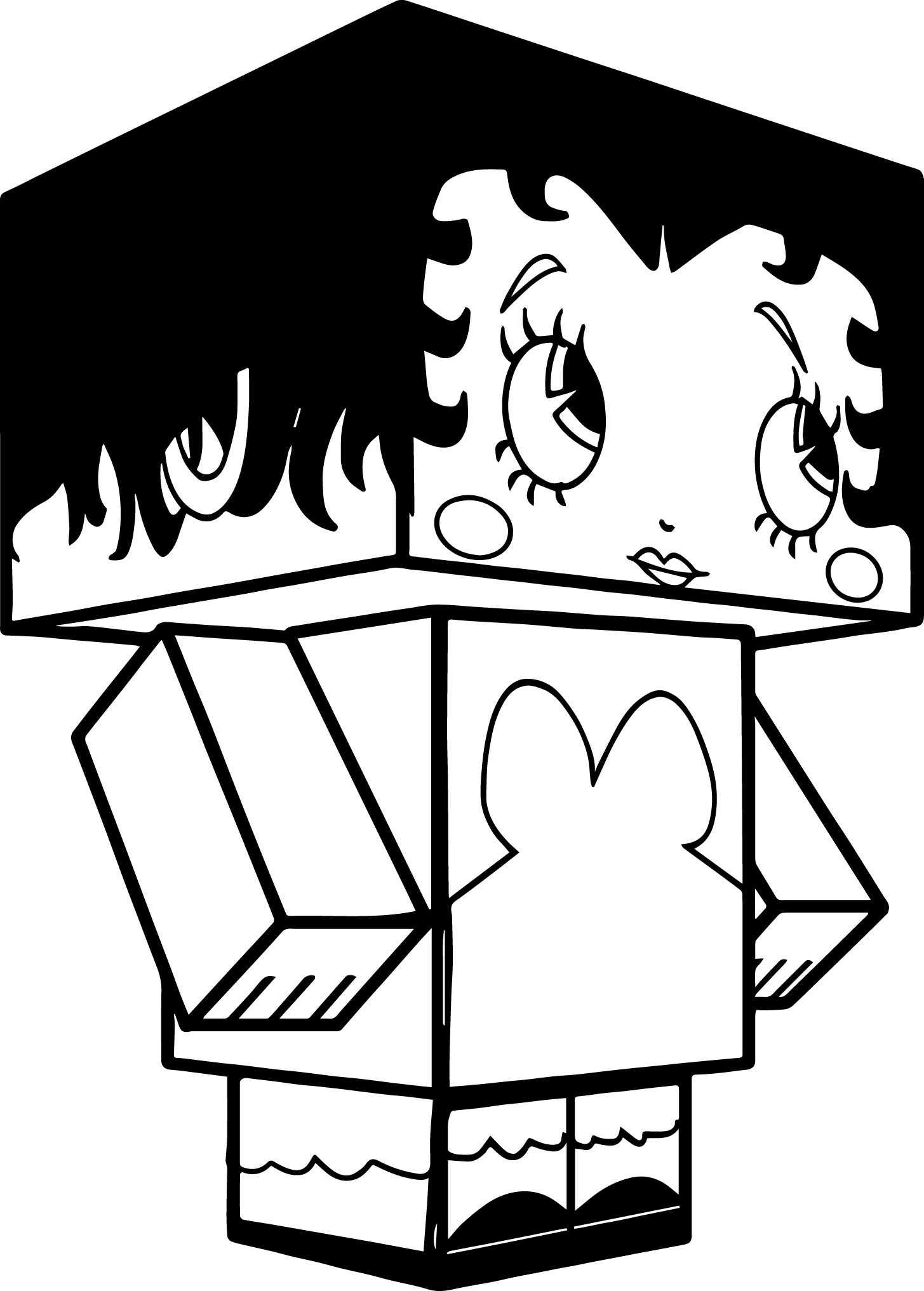 1455x2033 Coloring Pages Minecraft Pig Fresh Betty Boop Minecraft Coloring