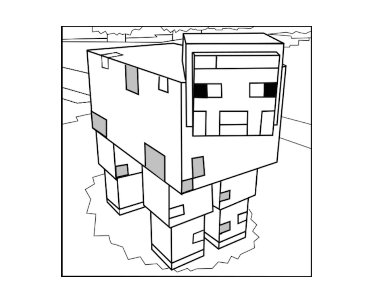 Minecraft Pig Drawing at GetDrawings.com | Free for ...